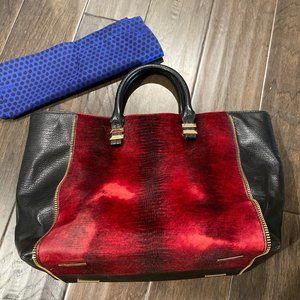Rebecca minkoff calf hair purse